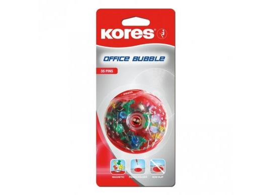 Pioneze plastic Kores in dispenser 35 buc